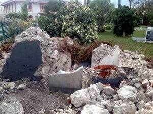 On January 4, 2015, a large mahogany tree, believed to be about 200 years old, fell and extensively damaged a tomb believed to be around the same age. However, the tomb itself is steeped in history. It was believed to have entombed two members of the Barclay family, the parents and children of which eventually went to Liberia and one of them became the 14th President of that country. However, when the tree fell and the tomb excavated, it was revealed that instead of two lead coffins, there were in fact nine of the coffins in there. The Church has therefore had to have these coffins stored at a local funeral home until the tomb has been repaired and restored.