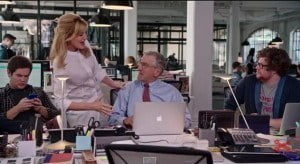 A comedy about a fashion website that brings in an elderly intern.