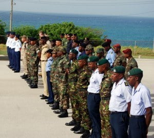 (FILE IMAGE) Military and police personnel from 13 CARICOM member states (Antigua and Barbuda, Bahamas, Barbados, Belize, Dominica, Grenada, Guyana, Haiti, Jamaica, St. Kitts and Nevis, St. Vincent and the Grenadines, Suriname, Trinidad and Tobago) will join military personnel from the United States, Canada, Mexico, the United Kingdom, the Kingdom of the Netherlands, and the Dominican Republic for Phase I of Exercise Tradewinds 2015.