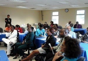 Over 25 Deputy Permanent Secretaries and Senior Technical Officers took part in a Knowledge Management workshop recently at the Ministry of Labour, Social Security and Human Resource Development as part of the HRD Strategy.