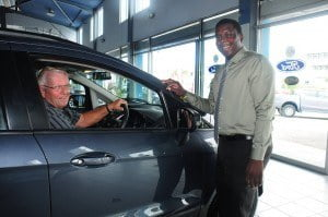 Dennis Hammond test drove a Ford EcoSport to secure his place in the inaugural Ford Invitational taking place at Apes Hill Club this Friday. He was assisted by Mario Boyce, Sales Executive, MQI.
