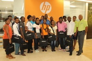 """""""I've learnt a lot here, academically and otherwise, and Barbados is like a home for me since we are all black. My stay at first was somewhat rough but so far so good,"""" said Agbe, adding that he had been in touch with his family via Skype on the HP laptops daily."""