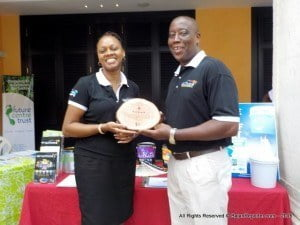 Cheryl and Charles at Limegrove with the actual trophy over the weekend...