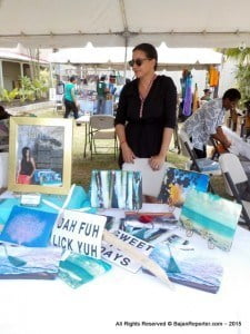 One stall owner is a grand-daughter of Robin Hunte from the Merry Men and she made cosmetic clutch bags declaring popular Bajan sayings that patrons also use to tote their tablets.