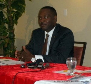 MINISTER OF INDUSTRY, INTERNATIONAL BUSINESS, COMMERCE & SMALL BUSINESS DEVELOPMENT, DONVILLE INNISS, ALONG WITH PRES. OF THE BARBADOS INTERNATIONAL BUSINESS ASSOCIATION (BIBA), CONNIE SMITH, WILL HOLD A PRESS CONFERENCE ON FRIDAY 19TH JUNE TO DISCUSSS BARBADOS BEING BLACKLISTED BY MEMBERS OF THE EUROPEAN UNION. IT WILL TAKE PLACE IN THE CONFERENCE ROOM, 8TH FLOOR, BAOBAB TOWER, WARRENS, ST. MICHAEL