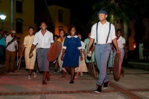 Some of the 2014 dance interns performing at last year's First Citizens Bridgetown By Night Heritage Walk in association with BTI
