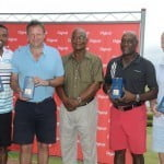 The winning team l to r Dave Cameron Pete Russell Cammie Smith Sir. Vivian Richards and David Brookes