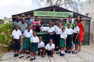 "The team also visited the Ellerton Primary School where the Ashantio Sealy Green House was lush with produce grown by the children. A highlight of the Ellerton Primary tour was the demonstration of the ""no fuss"" bars, a healthy snack bar which accompanied the mauby, coconut punch, sorrel and other natural juices produced in the REAP ""agripreneurship"" programme. Youth are also members of the 4-H Foundation which is very vibrant at Ellerton Primary."