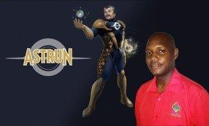 "Winner of U.S. Embassy Bridgetown's Science Superhero Design Competition, Alleyne Gulston of Grenada, poses with his winning entry entitled, ""Astrun."""