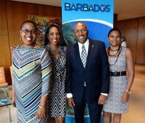 (l-r) Jennifer Ann Brathwaite, Peter Mayers and Joy-Anne Crichlow joined Executive Director Ebonnie Rowe at the launch