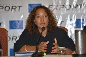 """Mrs. Pamela Coke-Hamilton, Executive Director of the Caribbean Export Development Agency (Caribbean Export) in her welcome remarks expressed, """"We recognise that the environment in which the region's private sector operates is ever changing and key areas such as Intellectual Property Rights have emerged which require us to pay attention""""."""
