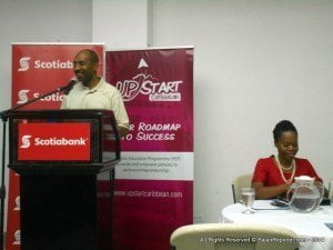 "(FILE IMAGE: AT PODIUM) Called ""Solutions Barbados,"" he has avoided the traditional method of seeking terms of either 'Movement' or 'Party' in the formation of an alternative that precedes the anniversary of a major change in Barbadian history almost eight decades ago..."