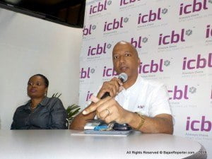 """The policy provides coverage against fire, theft and other scourges, according to Deputy CEO, Goulbourne Alleyne who fielded questions at a small business seminar entitled """"Securing the Future of your Business,"""" at their Roebuck St headquarters."""