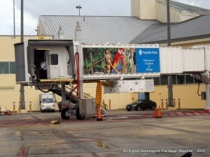 """Customers using the Piarco International Airport are advised to leave their home or hotel earlier than they normally would, giving themselves enough time to pass through airport security,"" Brown said."