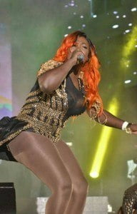 Not to be outdone, Spice also delivered well-known hits and recently crafted lyrics much to the delight of fans, including a remake of Vybz Kartel's Money Pon Mi Brain, followed by a hard-hitting social commentary piece, and other favourites: So Mi Like It, Back Bend, Needle Eye, Conjugal Visit and Romping Shop.