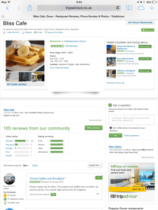 (CLICK FOR BIGGER) Trip Advisor is a boon for Small Businesses who do it right, this screenshot was while in the Top 5