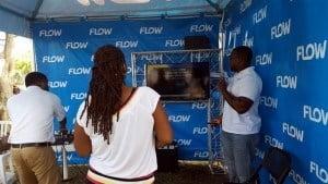 Attendees singing Karaoke via Flow's Video On Demand feature