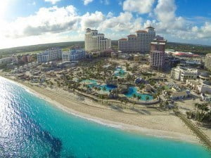 (IMAGE VIA - livetradingnews.com) Baha Mar is set on 3,000 feet of white sandy beach just 10 minutes from Nassau's fully renovated and expanded international airport.  It will feature elite hotels with gaming, entertainment, private residences, shopping and natural attractions that reflect an authentic Bahamian experience.
