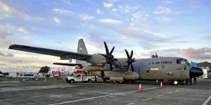 (FILE IMAGE: Courtesy - Robert J. Cijntje) The Hurricane Hunters are special aircraft used by the NOAA to conduct research to support its mission of predicting changes in earth's environment, and managing coastal and marine resources. The crews fly through hurricanes to help forecasters and scientists gather operational and research data.
