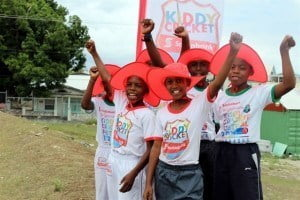 Just over 80 Kiddy Cricketers gathered at the two camps at the Passage Road and Speightstown playing fields for the week-long cricketing skills camp.  Scotiabank marketing manager Amanda Lynch-Foster said the camps, now in their third year, have become an integral part of the overall Kiddy Cricket program.