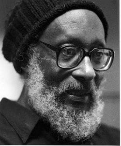 Our third living legend is the 85 year old Kamau Brathwaite, whose works of poetry, drama, history, literacy criticism, and cultural analysis are far too numerous to list!