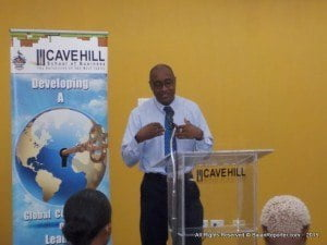 This unfolded during an official launch to announce a renewed partnership between the Cave Hill School of Business and the private sector, during the speeches - Winston Alleyne, Member Relations Executive of the City Of Bridgetown credit union said how COB was aware of the challenges members were facing when pursuing higher education.