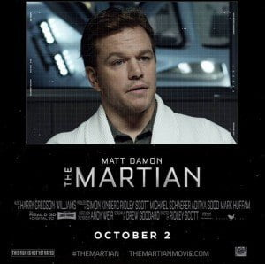 Director: Ridley Scott Writers: Drew Goddard (screenplay), Andy Weir (book) Stars: Matt Damon, Jessica Chastain, Kristen Wiig