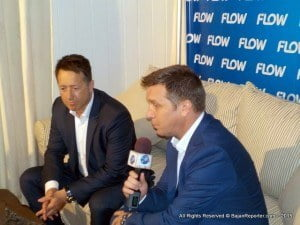 """Commenting on the partnership, John Reid (Left), President of C&W's Consumer Group said, """"this is another example of how we are working with our international partners to secure exciting content for our customers across the Caribbean. """"Not only will NFL fans have access to games, they will be able to view NFL action across multiple platforms, including Flow TV and on their smart devices."""""""