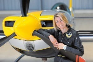 Four-time French champion from 2011 to 2014, she was crowned World Champion in individual, freestyle and team categories during competitions that took place in Texas in 2013 - a feat she has just repeated this summer at the controls of her Extra 330SC sporting its personalized Breitling livery.