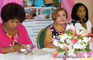 News of this comes from Dr. Shirley Hanoman-Jhagroo (Centre), Medical Co-ordinator at the Barbados Cancer Society's (BCS) Breast Screening Programme, who also revealed that breast cancer unfortunately remains the most commonly diagnosed cancer, and the number one cause of death from cancer among Barbadian women.