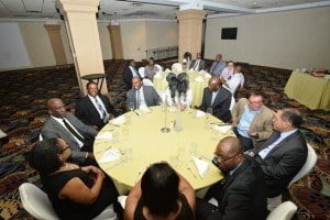 At a private dinner meeting held on Wednesday, September 2, 2015 at the St. Kitts Marriott, the visiting IMF delegation had the rare opportunity to interface with approximately 36 local private and public sector leaders on a number of pertinent issues.