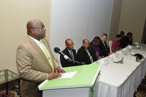 In commenting on the role of manufacturing after the IMF/ Government/ Private Sector Dinner Meeting, the Federation's Prime Minister, Dr Timothy Harris underscored the critical need to safeguard the local manufacturing sector - which is comprised of indigenous manufacturing operators and US-owned electronic assembly plants.
