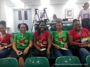 L to R: Members of the Dominica Student Association - Nadira Lando-Ghonim (Welfare Officer); Aurelle Joseph; Jodie Luke; Caren Casimir and President Annika Bellott. The match will also be doubled with an online Telethon which will be hosted by Mac Fingall.