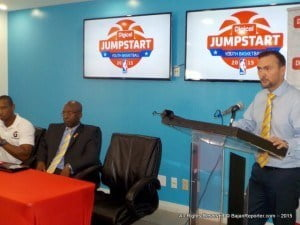 The Barbados leg was hosted by Chris Clunie and Becky Bonner, at Digicel's media launch which was held at their main headquarters in Williams Tower in Warrens, CEO Johnny Ingle explained how the 40 juniors get to showcase their talents in front of NBA coaches.