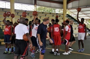 Players in Antigua and Barbuda showed great skill during the recently-held Digicel Jumpstart Clinics, hosted by NBA coaches.