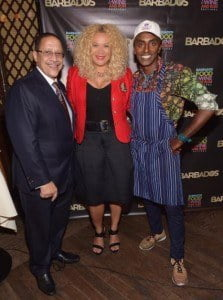 L to R - Billy Griffith, BTMI CEO, Petra Roach, BTMI Director US, Marcus Samuelsson, Chef and Restaurant Owner