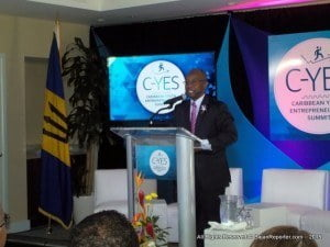 Minister of Culture, Sports and Youth, Stephen Lashley, addressed the opening ceremony of the Caribbean Youth Entrepreneurship Summit (C-YES) at the Courtyard by Marriott, said more young entrepreneurs needed to explore the many opportunities for expanding their enterprises within the region.