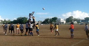 Bowen and Jordan teamed up once more to increase the Tridents' lead to 14-5. After restart, Emperors employed the skills of Simon Noble and Mikyle Walcott to regain the ball, passing off to Enrique Oxley who drove over the try line while Brandon Walcott's reliable right leg added two more points. The score was now 14-12 to the Tridents.
