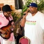 Nicholas Brancker and Biggie Irie performing an interpretation of Bob Marley's Redemption Song