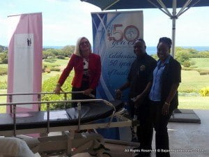 The Trust also donated a desperately needed Pediatric Neonatal Cysto-Urethroscope and two custom built Hydraulic Stretchers to the QEH.The stretchers are worth $7,000 USD each while the scope alone is $37,000 BBD