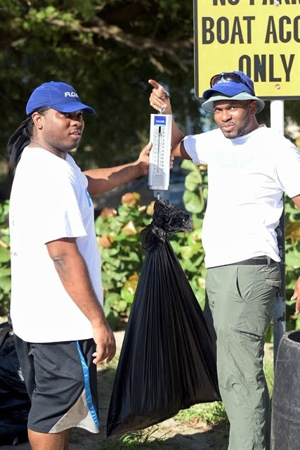 The Bajan Reporter   400 LBS OF REFUSE NETTED BY FLOW STAFF