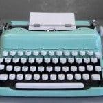 notonthehighstreet typewriter in mint green