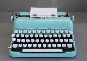 (IMAGE VIA - notonthehighstreet.com) In the lawyer's office, Ramjeet encountered what appeared to be a miraculous instrument - a typewriter. Ramjeet taught himself to type - a skill that he used to good advantage when he later launched into journalism, a passion that he never abandoned even though he went on to a career in the law in several countries.