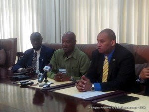 These included Minister of Labour, Senator Dr. Esther Byer; Minister of International Business, Industry, Commerce and Small Business Development, Donville Inniss; Head of the Private Sector Association, Alex MacDonald; and President of the Congress of Trade Unions and Staff Associations of Barbados (CTUSAB), Cedric Murrell.