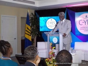 The United States Ambassador to Barbados, the Eastern Caribbean, and the OECS, Dr. Larry Palmer, delivered remarks at the opening ceremony and congratulated over 21 young entrepreneurs who showcased business ventures including jewelry handcrafted by survivors of abuse and domestic violence, image consulting, computer animation, cosmetic production, and food goods.