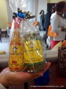 Regular customers to JetBlue who venture to Barbados are also getting a treat in a wrapped package of a bottle of Country Boy peppersauce and a jar of their jerked seasoning plus a recipe for a Bajan version of Boston Market chicken.