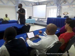 The guest lecturer says he is always amazed how companies here don't access video to reach their CARICOM neighbours, since the concept is still in its infancy - therefore the rates are still very reasonable.