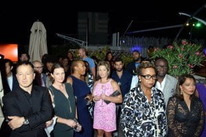 A section of the audience at the launch party at the Betsy Hotel, South Beach, Miami