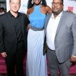 John Reid, President of Flow, Wendy Fitzwilliam, Executive Producer and Mark Lewis, Head of Brand for Caribbean Next Top Model