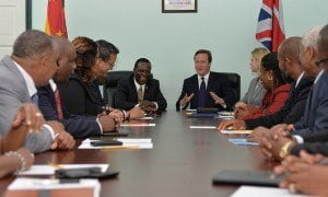 PM David Cameron spoke of his delight at being the first British Prime Minister to visit the Caribbean in 14 years, a visit that demonstrated a clear desire to strengthen Britain's relationship with the region. 'I'm coming with one clear and simple message - we would both benefit from a stronger and deeper relationship,' he said in a meeting with Grenadian Prime Minister Dr Keith Mitchell. 'We want to help the Caribbean on their path of development - supporting economic growth and creating new opportunities for people living here.'